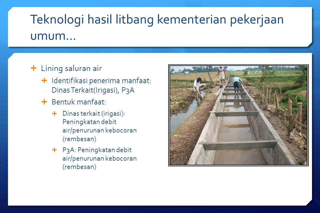 Teknologi hasil litbang kementerian pekerjaan umum…