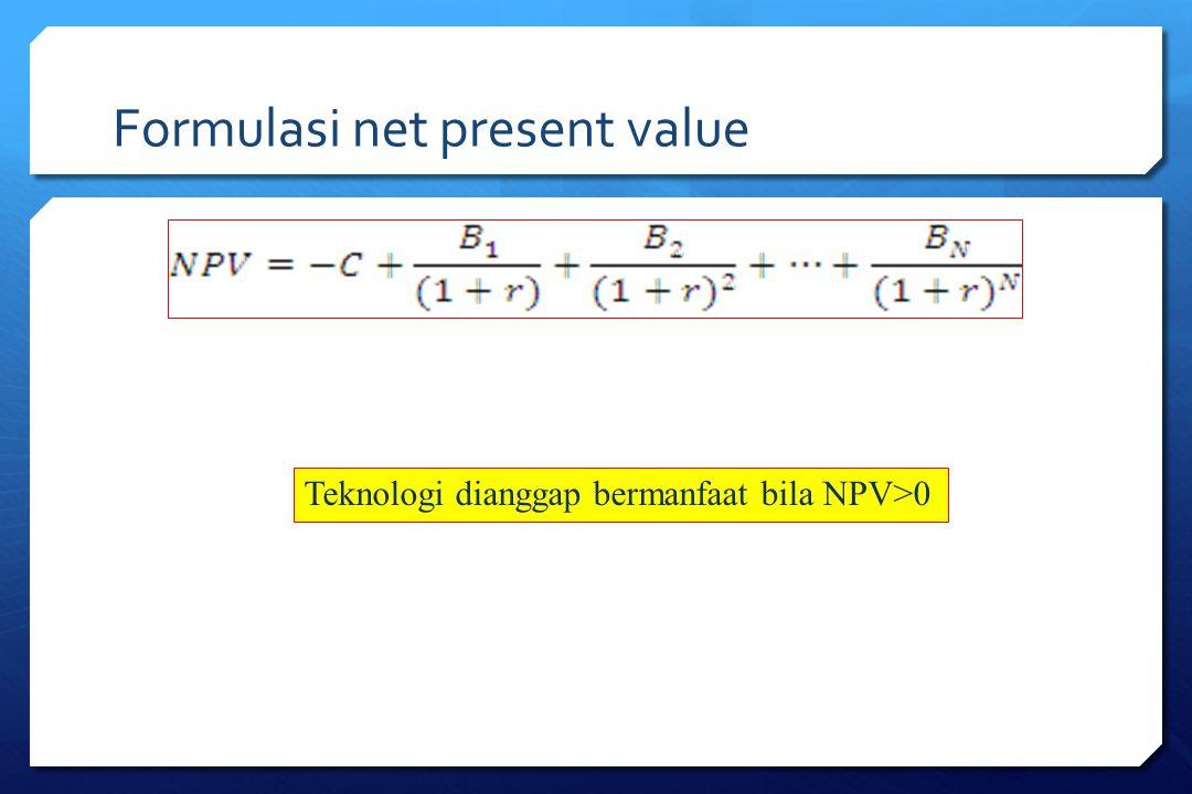 Formulasi net present value
