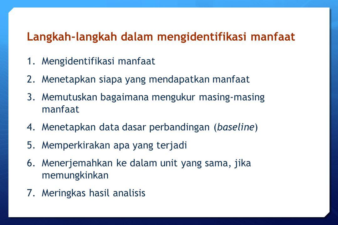 Langkah-langkah dalam mengidentifikasi manfaat
