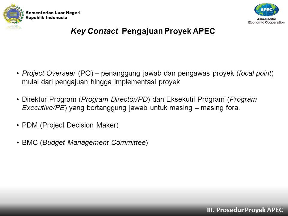 Key Contact Pengajuan Proyek APEC