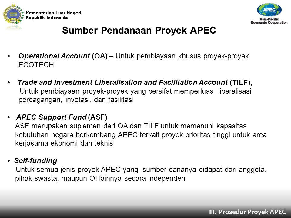 Sumber Pendanaan Proyek APEC