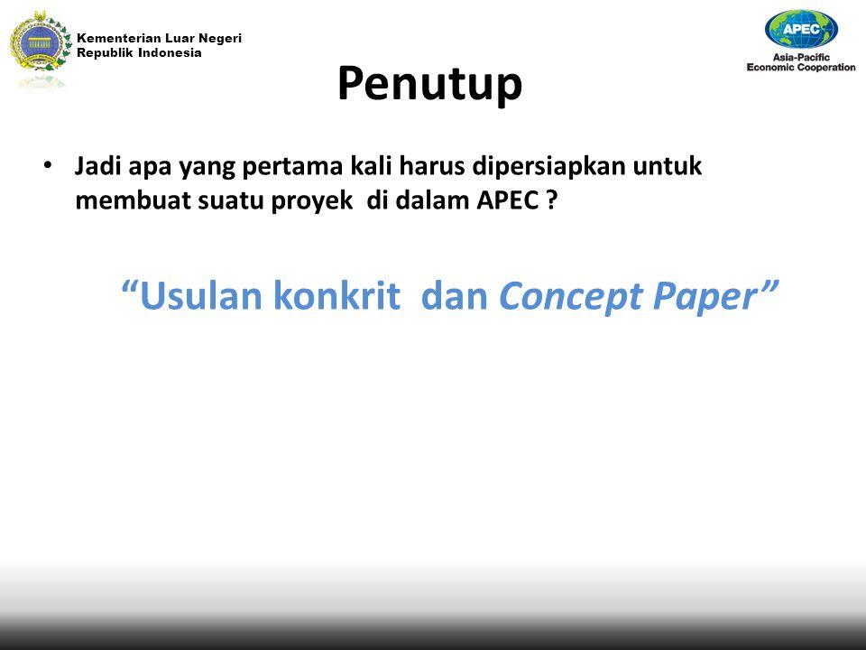 Usulan konkrit dan Concept Paper