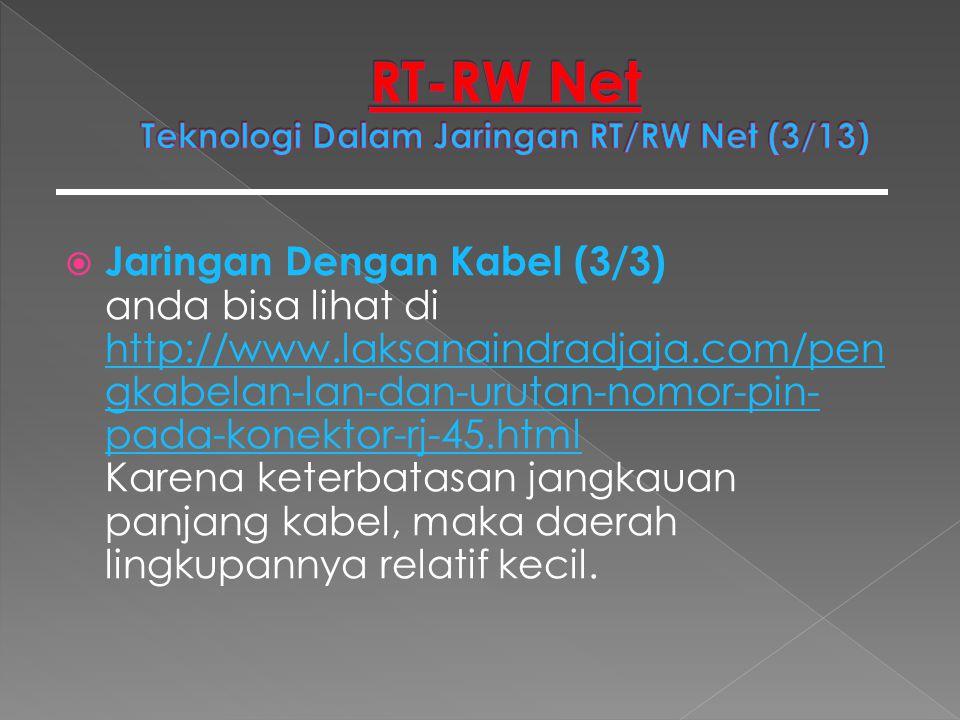 RT-RW Net Teknologi Dalam Jaringan RT/RW Net (3/13)