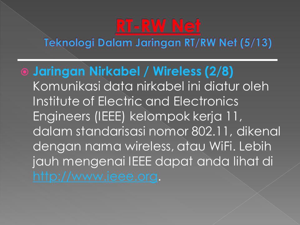 RT-RW Net Teknologi Dalam Jaringan RT/RW Net (5/13)