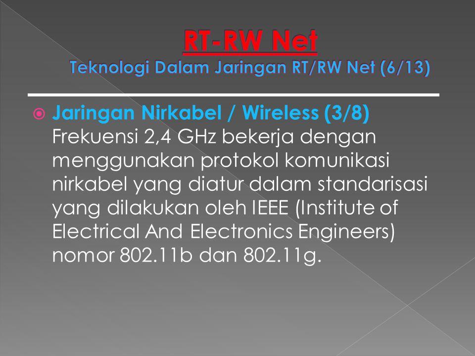 RT-RW Net Teknologi Dalam Jaringan RT/RW Net (6/13)