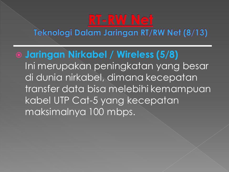 RT-RW Net Teknologi Dalam Jaringan RT/RW Net (8/13)