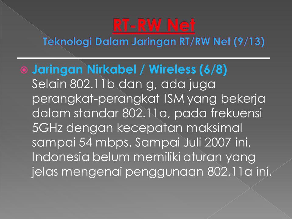 RT-RW Net Teknologi Dalam Jaringan RT/RW Net (9/13)