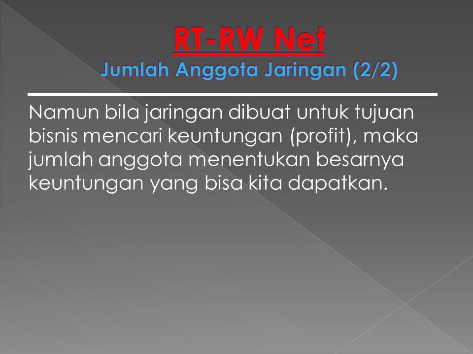 RT-RW Net Jumlah Anggota Jaringan (2/2)