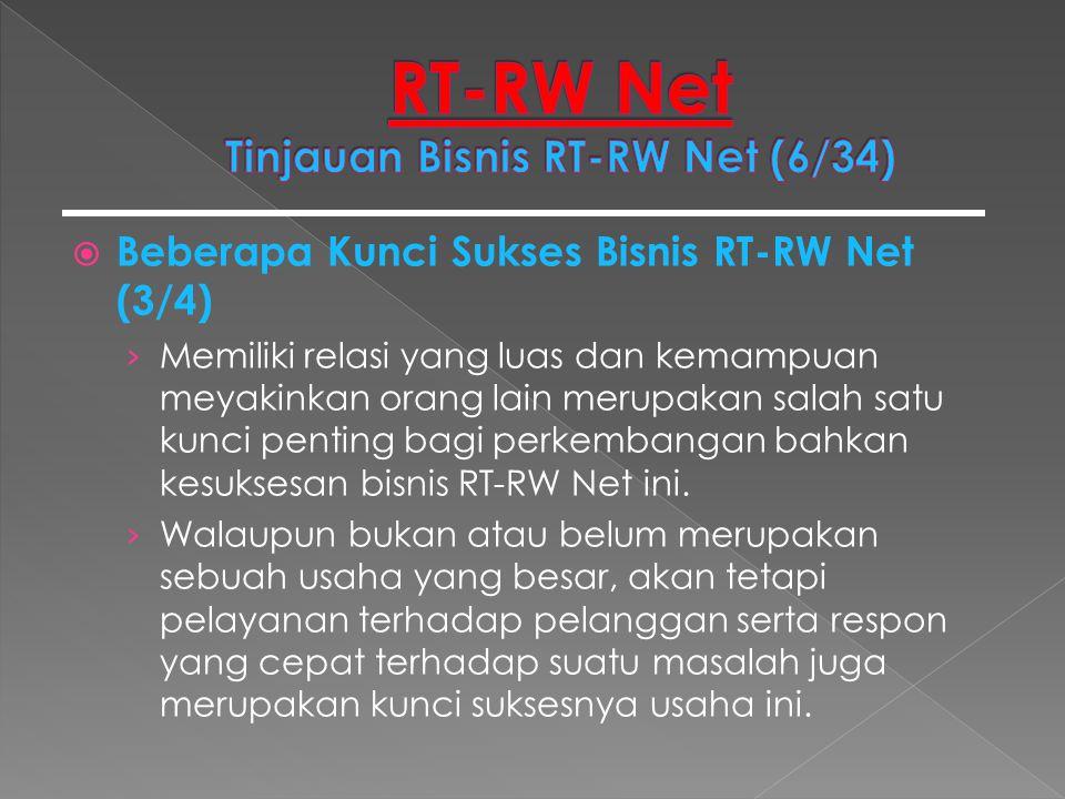 RT-RW Net Tinjauan Bisnis RT-RW Net (6/34)