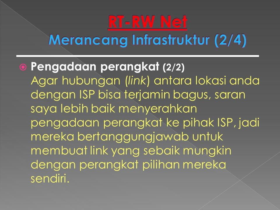 RT-RW Net Merancang Infrastruktur (2/4)