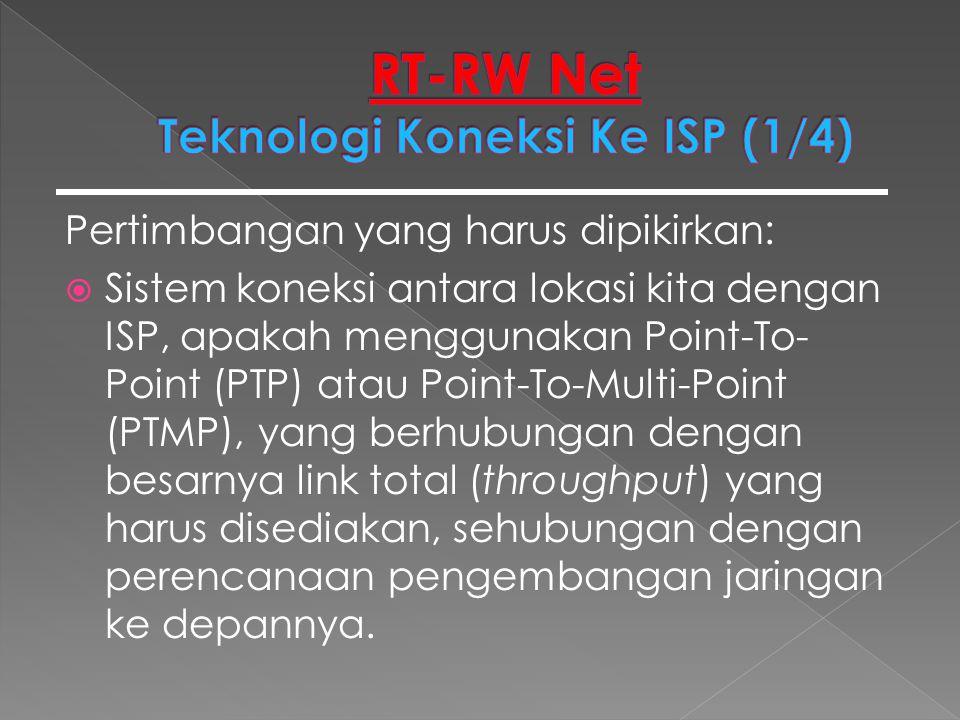 RT-RW Net Teknologi Koneksi Ke ISP (1/4)