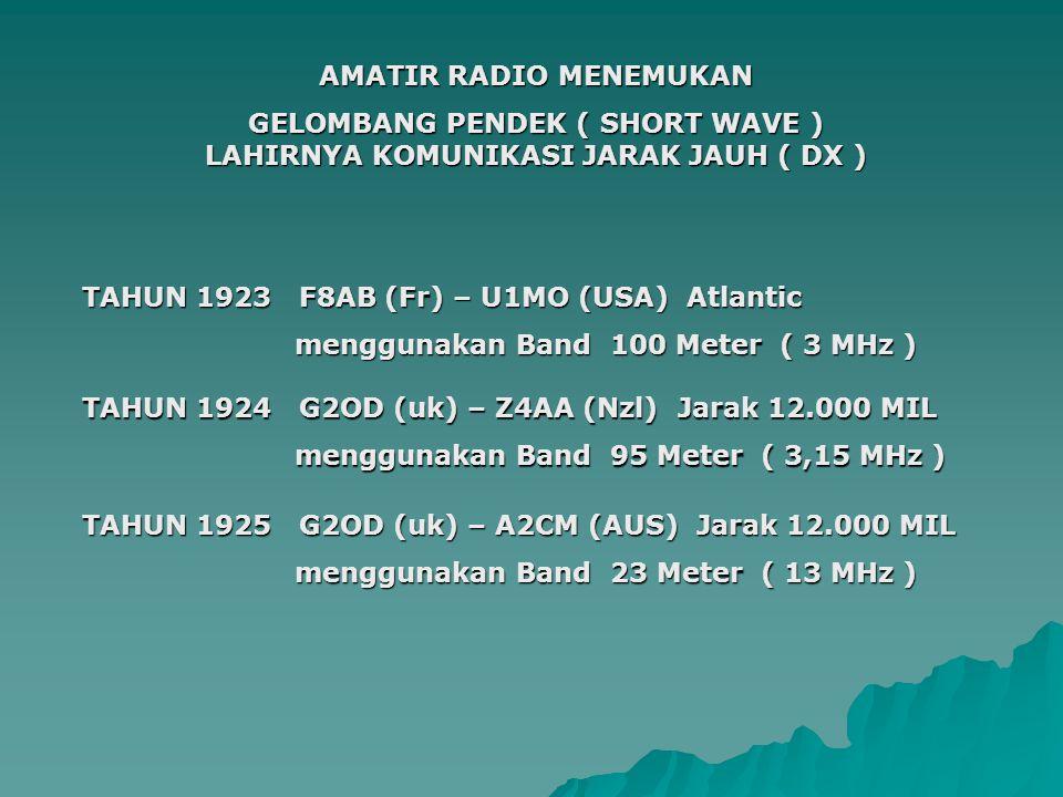 AMATIR RADIO MENEMUKAN
