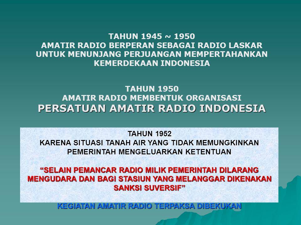 PERSATUAN AMATIR RADIO INDONESIA