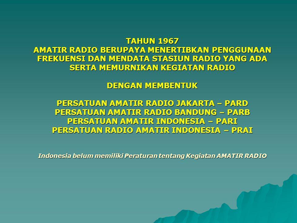 PERSATUAN AMATIR RADIO JAKARTA – PARD