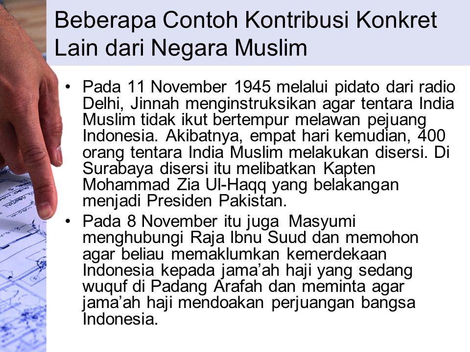 Beberapa Contoh Kontribusi Konkret Lain dari Negara Muslim