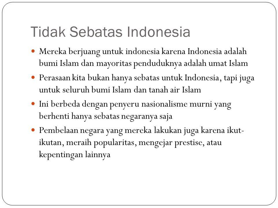 Tidak Sebatas Indonesia