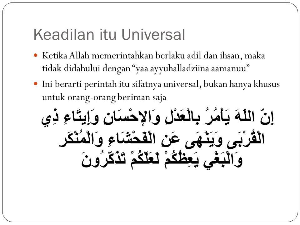 Keadilan itu Universal