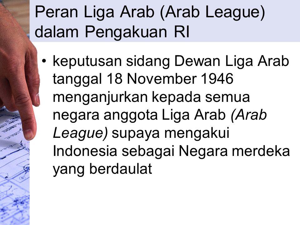 Peran Liga Arab (Arab League) dalam Pengakuan RI