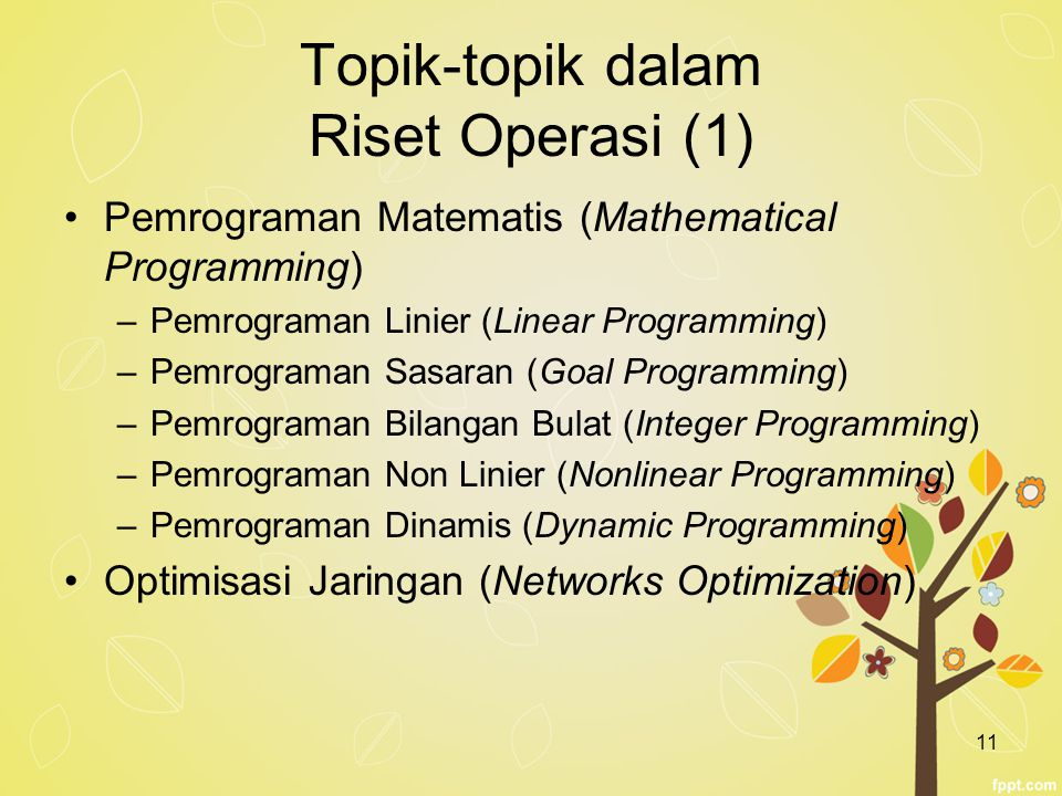 Topik-topik dalam Riset Operasi (1)