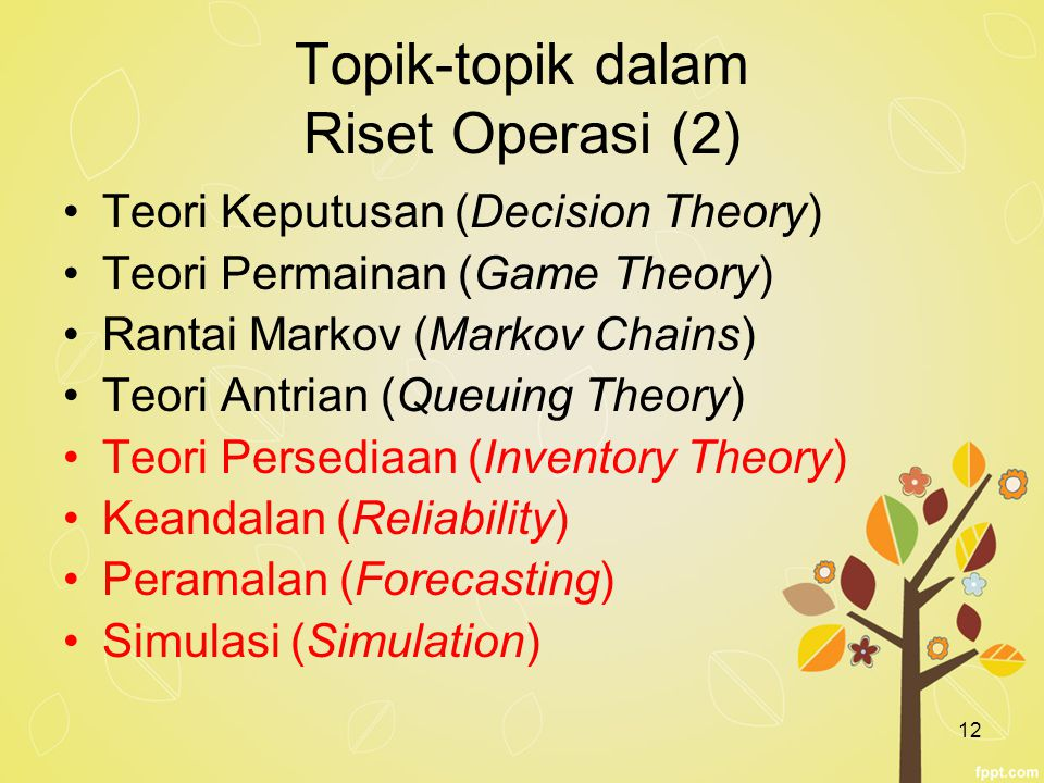 Topik-topik dalam Riset Operasi (2)