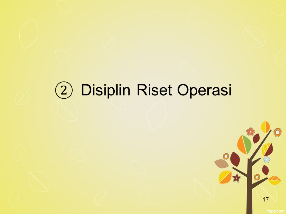 Disiplin Riset Operasi
