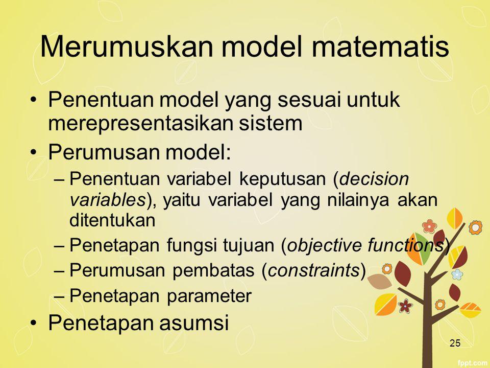 Merumuskan model matematis