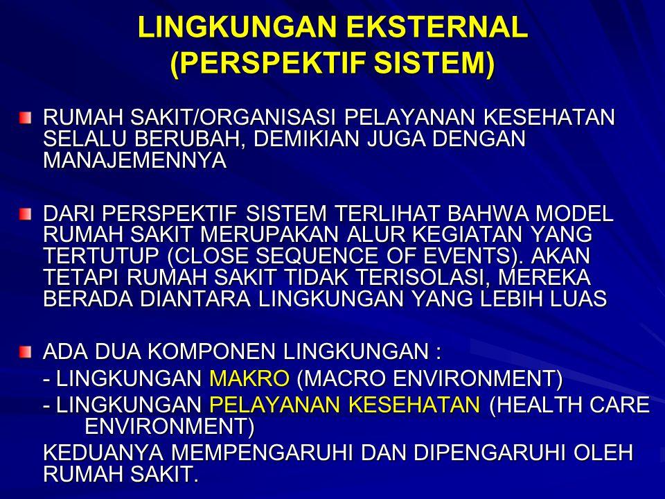LINGKUNGAN EKSTERNAL (PERSPEKTIF SISTEM)