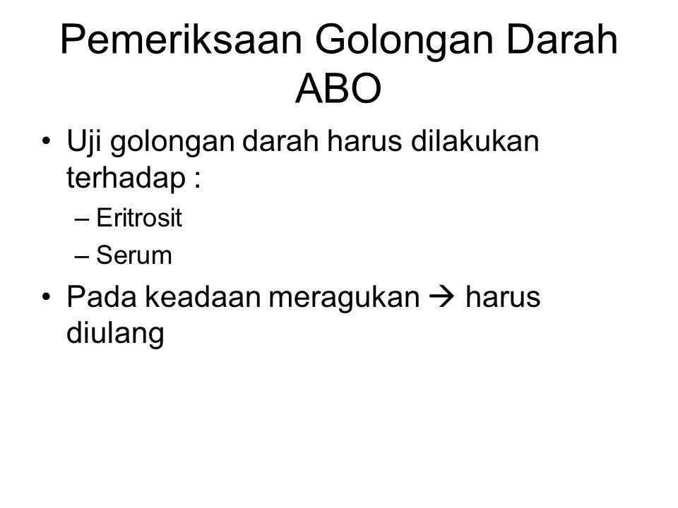 Pemeriksaan Golongan Darah ABO