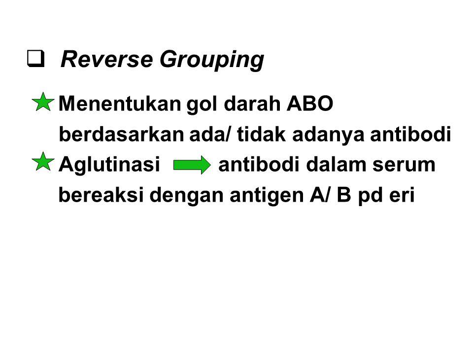 Reverse Grouping Menentukan gol darah ABO
