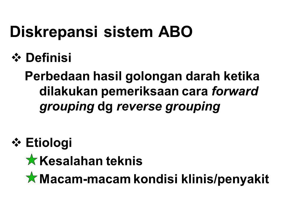 Diskrepansi sistem ABO