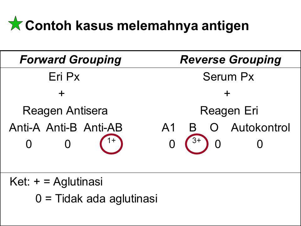 Contoh kasus melemahnya antigen