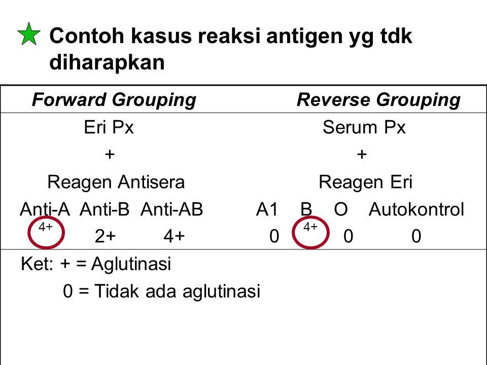 Contoh kasus reaksi antigen yg tdk diharapkan