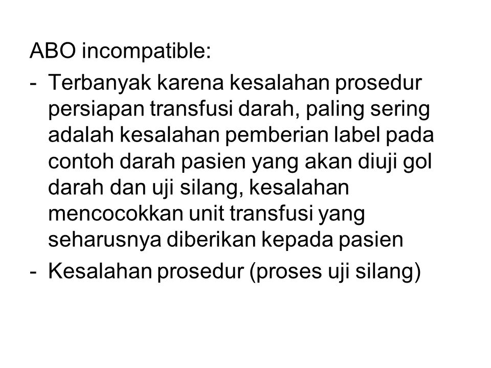 ABO incompatible: