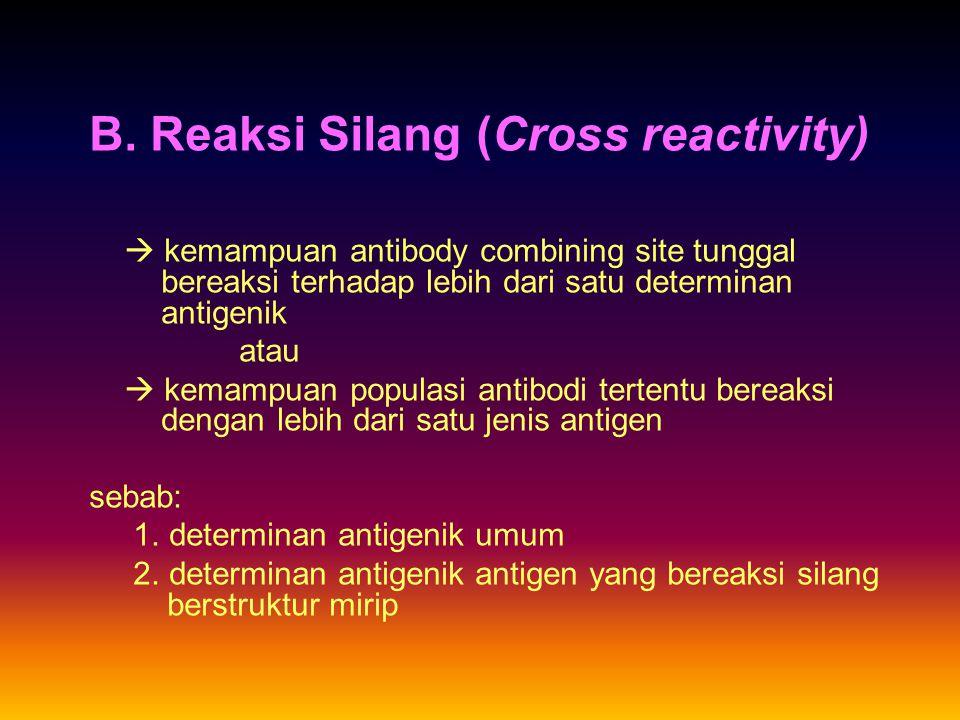 B. Reaksi Silang (Cross reactivity)