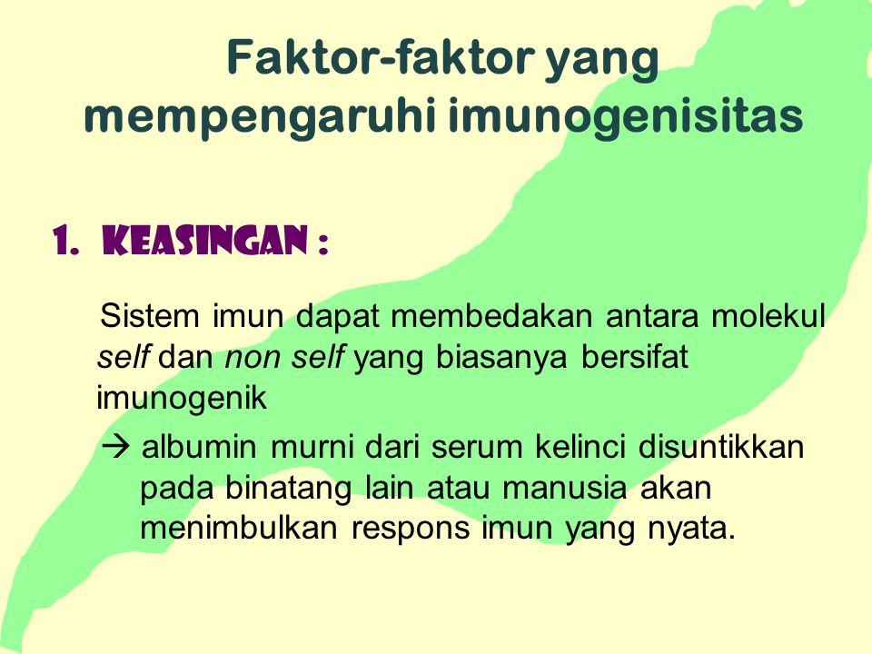Faktor-faktor yang mempengaruhi imunogenisitas