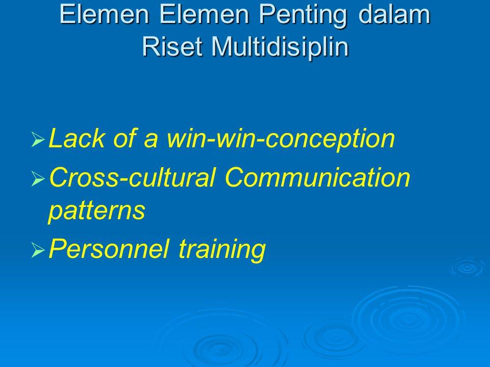 Elemen Elemen Penting dalam Riset Multidisiplin