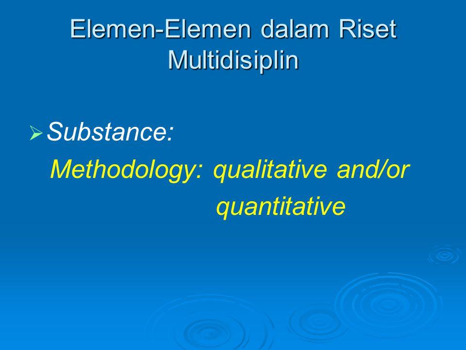 Elemen-Elemen dalam Riset Multidisiplin