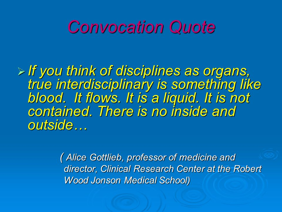 Convocation Quote