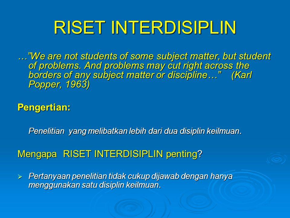 RISET INTERDISIPLIN