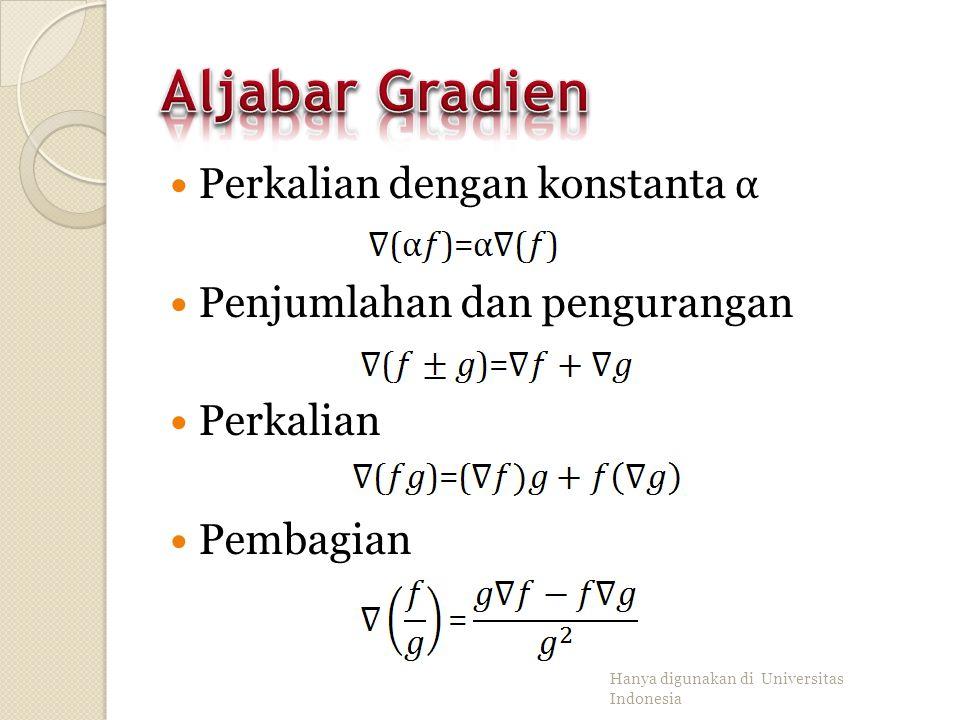 Aljabar Gradien Perkalian dengan konstanta α