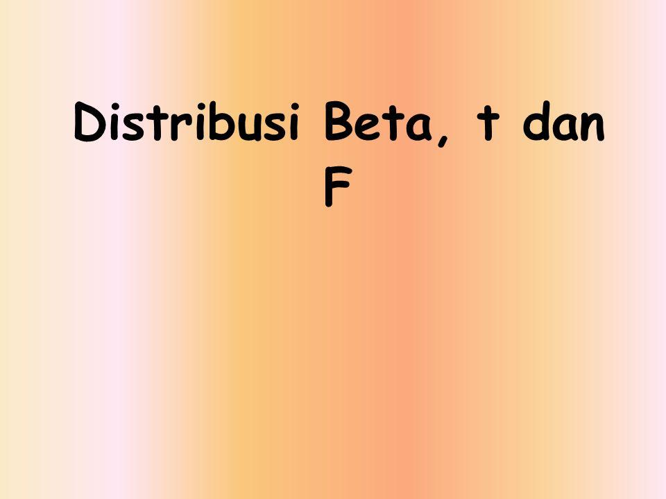 Distribusi Beta, t dan F
