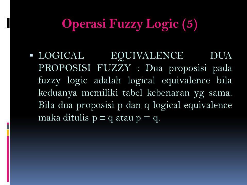 Operasi Fuzzy Logic (5)