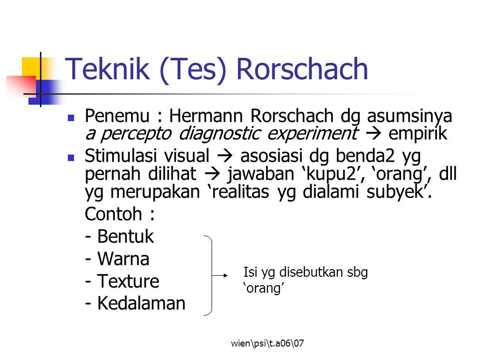 Teknik (Tes) Rorschach