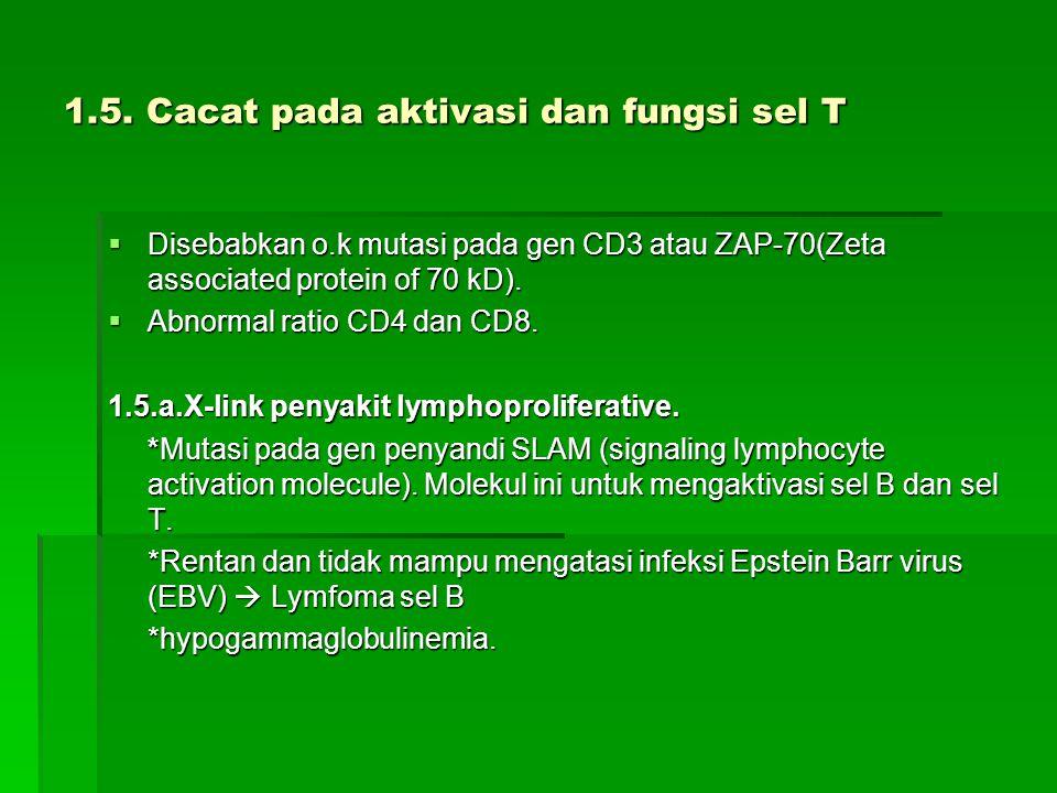 1.5. Cacat pada aktivasi dan fungsi sel T