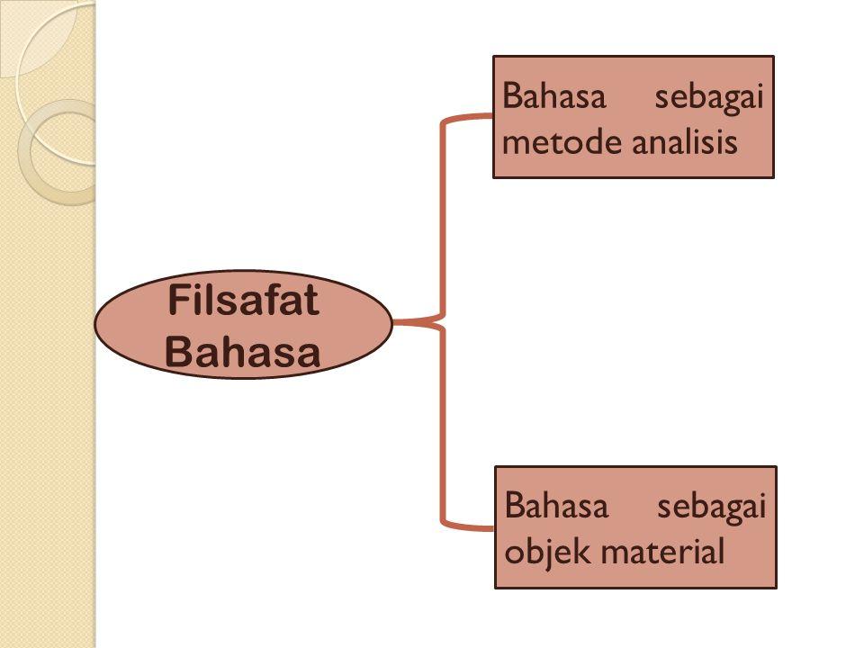 Filsafat Bahasa Bahasa sebagai metode analisis