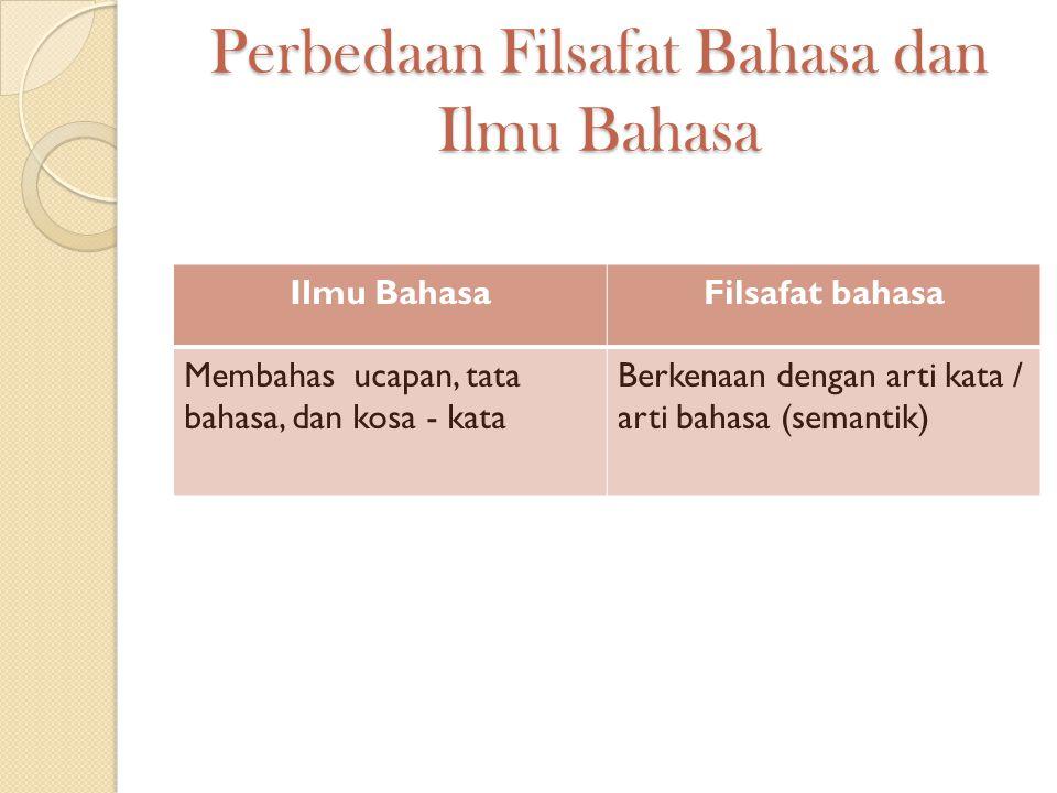 Perbedaan Filsafat Bahasa dan Ilmu Bahasa