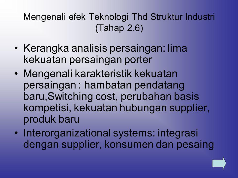 Mengenali efek Teknologi Thd Struktur Industri (Tahap 2.6)
