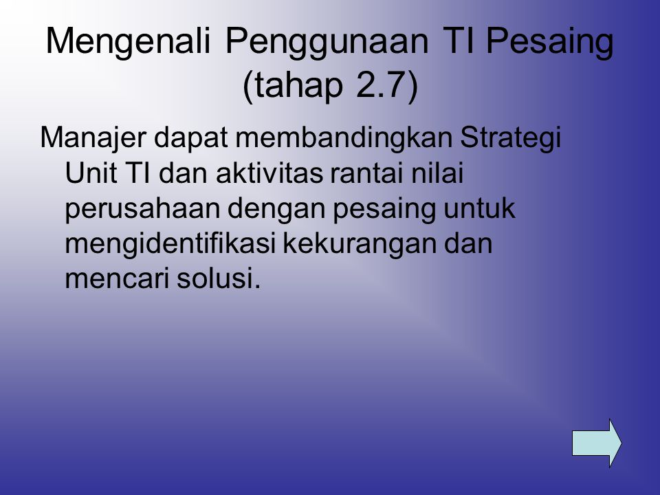 Mengenali Penggunaan TI Pesaing (tahap 2.7)