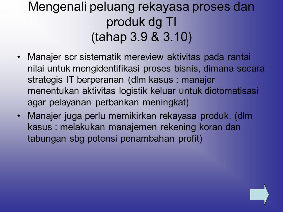 Mengenali peluang rekayasa proses dan produk dg TI (tahap 3.9 & 3.10)