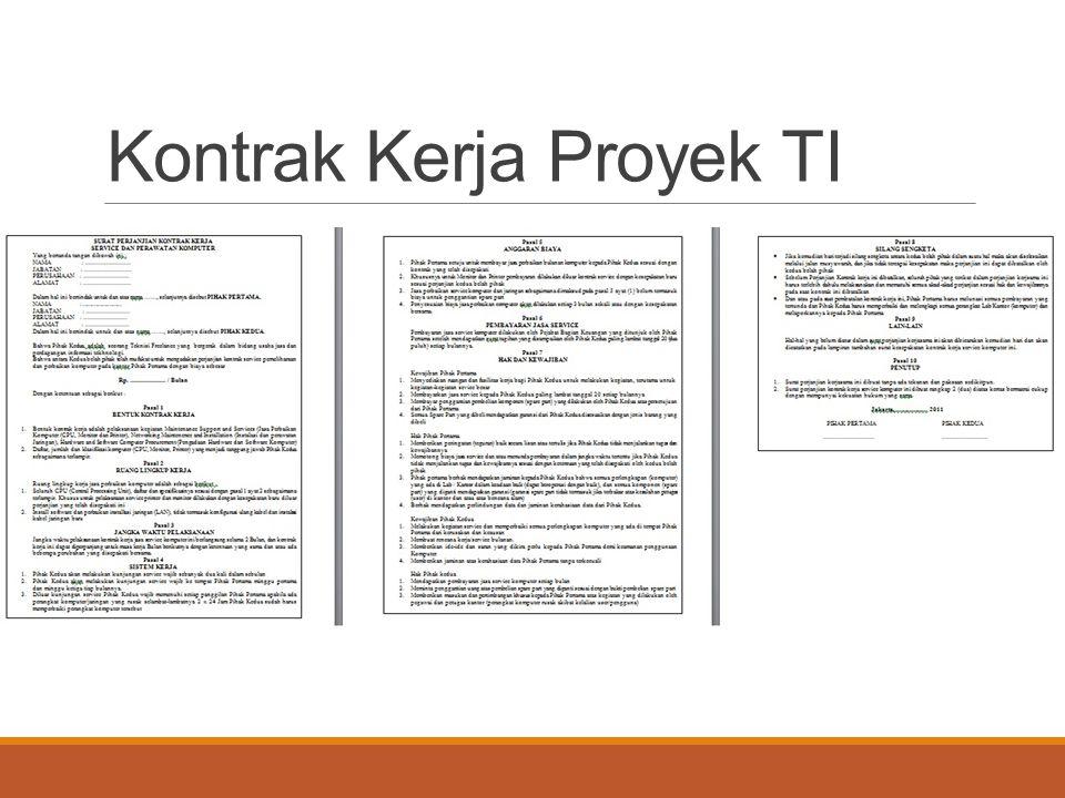 Kontrak Kerja Proyek TI